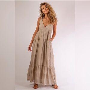 Free People Frankie Pintuck Maxi Dress
